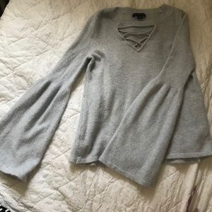 Baby blue American Eagle neck detail sweater